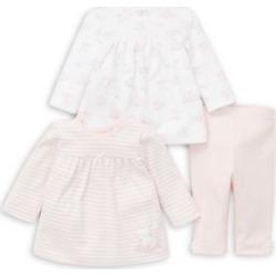 Ensemble tunique et legging en mélange de coton Bunny pour bébé fille, 3 pièces