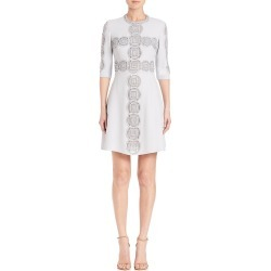 Elie Saab Women's Three-Fourth Sleeve Cady Dress - Cloud - Size 38 (6) found on MODAPINS from Saks Fifth Avenue for USD $2279.99