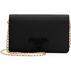 Prada Women's Monochrome Leather Crossbody Bag - Black found on Bargain Bro Philippines from Saks Fifth Avenue for $1490.00