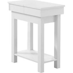 Table d'appoint et de rangement taupe, 61 cm