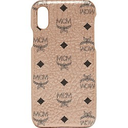 MCM Men's Stamped Logo Leather iPhone X Case - Gold found on Bargain Bro India from Saks Fifth Avenue for $125.00