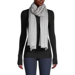 Janavi Women's Metallic Abstract Stripe Cashmere Scarf - Grey found on MODAPINS from Saks Fifth Avenue for USD $1250.00