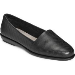 Ms. Softee Perforated Leather Slip-On Flats