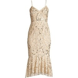 Aidan Mattox Women's Beaded Sleeveless Midi Dress - Light Gold - Size 14 found on MODAPINS from Saks Fifth Avenue for USD $295.00