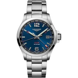 Longines Men's Conquest V.H.P. Classic Stainless Steel Bracelet Watch - Blue found on MODAPINS from Saks Fifth Avenue for USD $1350.00