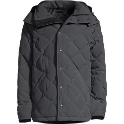 Canada Goose Men's Webster Duck Down Hooded Coat - Graphite - Size Large