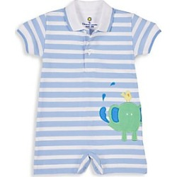Florence Eiseman Baby Boy's Knit Pique Stripe Romper - Light Blue - Size 18 Months