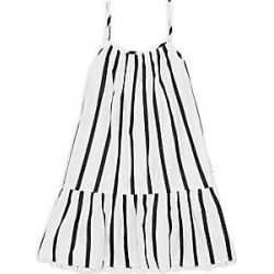 Milly Minis Little Girl's & Girl's High-Low Coverup Dress - White Black - Size 4 found on Bargain Bro India from LinkShare USA for $150.00