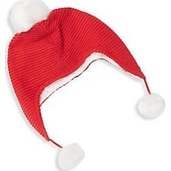 Elegant Baby Baby's Sophia & Finn Pom-Pom Hat - Red - Size 0-12 Months found on Bargain Bro India from Saks Fifth Avenue for $16.80