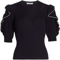 Ruffle-Sleeve Merino Wool Sweater found on Bargain Bro UK from Saks Fifth Avenue UK