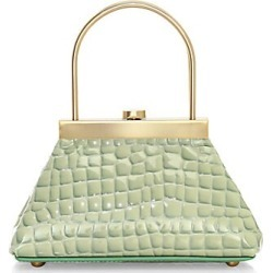 Cult Gaia Women's Mini Estelle Croc-Embosed Leather Top Handle Bag - Surf found on MODAPINS from Saks Fifth Avenue for USD $358.00
