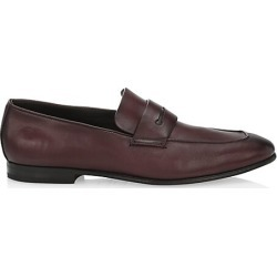 Ermenegildo Zegna Men's L'Asola Leather Penny Loafers - Dark Red - Size 6.5 EE found on MODAPINS from Saks Fifth Avenue for USD $795.00