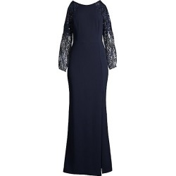 Aidan Mattox Women's Cold-Shoulder Yoke Crepe Dress - Twilight - Size 4 found on MODAPINS from Saks Fifth Avenue for USD $176.00