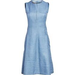 Akris Punto Sleeveless Raw Silk Sheath Dress - Dark Sky - Size 16 found on MODAPINS from Saks Fifth Avenue for USD $476.00