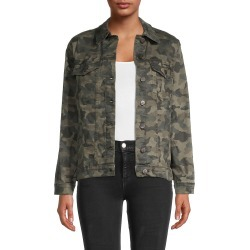 Nicole Miller Women's Oversized Camo-Print Denim Jacket - Camo Green - Size M found on MODAPINS from Saks Fifth Avenue OFF 5TH for USD $79.99