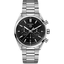TAG Heuer Men's Carrera Elegance 42MM Stainless Steel Bracelet Automatic Chronograph Watch - Stainless Steel