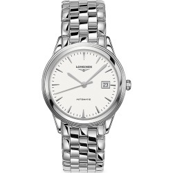 Longines Men's Flagship Stainless Steel Bracelet Watch - White found on MODAPINS from Saks Fifth Avenue for USD $1600.00