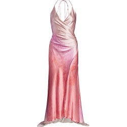 Adriana Iglesias Women's Scarface Wrapped High-Low Stretch-Silk Gown - Blossom - Size 38 (6) found on MODAPINS from Saks Fifth Avenue for USD $787.50