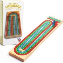 Cribbage Folding Wooden Board Games found on GamingScroll.com from The Bay for $14.99