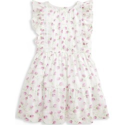 Ralph Lauren Little Girl's Floral Ruffle-Trim A-Line Dress - White Purple - Size 4 found on Bargain Bro India from Saks Fifth Avenue for $65.00