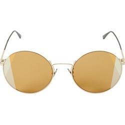 Bottega Veneta Women's 57MM Round Intrecciato Motif Sunglasses - Gold found on MODAPINS from Saks Fifth Avenue for USD $510.00