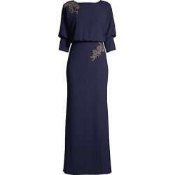 Aidan Mattox Women's Floral Beaded Side Slit Column Gown - Twilight - Size 4 found on MODAPINS from Saks Fifth Avenue for USD $158.00