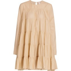 Merlette Women's Soliman Tiered Trapeze Dress - Light Beige - Size Large found on MODAPINS from Saks Fifth Avenue for USD $320.00