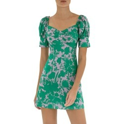 Alexis Women's Pilou Floral Linen Mini Dress - Emerald Botanical - Size XS found on MODAPINS from Saks Fifth Avenue for USD $447.50