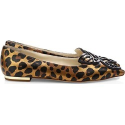 Sophia Webster Women's Butterfly Leopard-Print Metallic Leather Flats - Leopard - Size 37.5 (7.5) found on Bargain Bro Philippines from Saks Fifth Avenue for $395.00