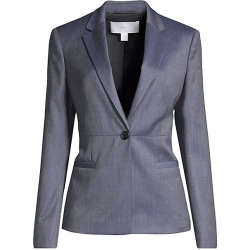 BOSS Women's Jaliana Slim-Fit Mini Patterned Natural Stretch Wool Single-Breasted Blazer - Klein Blue Mini Pattern - Size 14 found on MODAPINS from Saks Fifth Avenue for USD $146.05