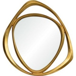 Miroir mural triangulaire avec cadre Goldie, collection Modern Glamour