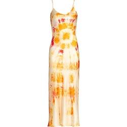 Dannijo Women's Bullseye Tie-Dye Silk Midi Dress - Orange - Size Medium found on MODAPINS from Saks Fifth Avenue for USD $395.00