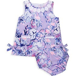 Lilly Pulitzer Baby Girl's Lilly 2-Piece Print Shift Dress & Bloomers Set - Light Lilac - Size 3 Months found on Bargain Bro India from Saks Fifth Avenue for $48.00