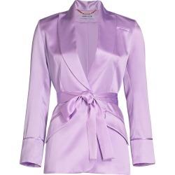 Adriana Iglesias Women's Iba Silk Belted Blazer Jacket - Lilac - Size 42 (10) found on MODAPINS from Saks Fifth Avenue for USD $1095.00