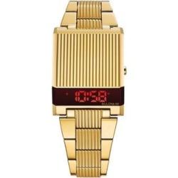 Goldtone Digital Computron Watch
