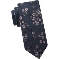 Embroidered Floral Silk-Blend Tie
