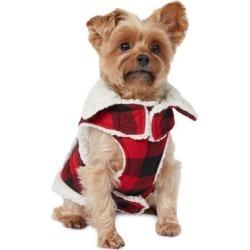 Crafted Cabin Buffalo Check Faux Shearling-Lined Dog Vest found on Bargain Bro India from The Bay for $29.99