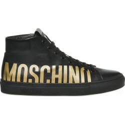 Moschino Men's Logo High-Top Sneakers - Black - Size 45 (12) found on Bargain Bro Philippines from Saks Fifth Avenue for $332.50