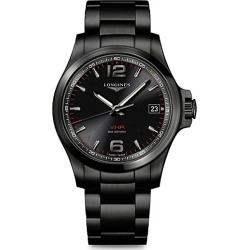 Longines Men's Conquest V.H.P. Bracelet Watch - Black Metal found on MODAPINS from Saks Fifth Avenue for USD $1300.00