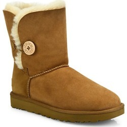 UGG Women's Bailey Button II Sheepskin-Lined Suede Boots - Chestnut - Size 11 found on Bargain Bro India from Saks Fifth Avenue for $180.00