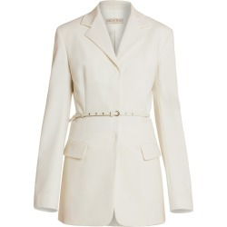 Emilio Pucci Women's Belted Stretch Virgin Wool & Mohair Jacket - White - Size 46 (6) found on MODAPINS from Saks Fifth Avenue for USD $697.50