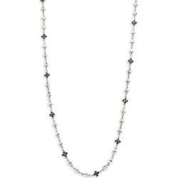 Sterling Silver & Black Cubic Zirconia Necklace