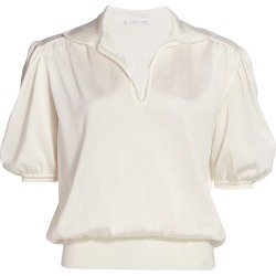 Alberta Ferretti Women's Knit Short-Sleeve Polo Shirt - White - Size 4 found on MODAPINS from Saks Fifth Avenue for USD $475.00