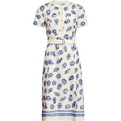 Altuzarra Women's Printed Short Sleeve Belted A-Line Dress - Ivory Multi - Size 44 (10) found on MODAPINS from Saks Fifth Avenue for USD $1195.00