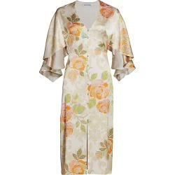 Adriana Iglesias Women's Victoria Floral Jacquard Stretch Silk Dress - Warm Bloom - Size 42 (10) found on MODAPINS from Saks Fifth Avenue for USD $1250.00