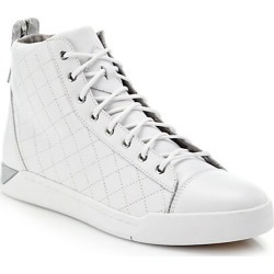 Diesel Men's Tempus Diamond High-Top Sneakers - White - Size 12 found on MODAPINS from Saks Fifth Avenue for USD $195.00