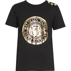 Balmain Women's Coin Tee - Black - Size 40 (8) found on MODAPINS from Saks Fifth Avenue for USD $395.00