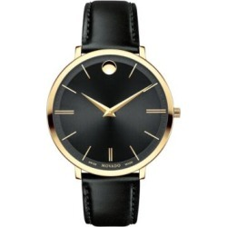 Analog Ultra Slim Goldtone Leather Strap Watch found on MODAPINS from The Bay for USD $795.00