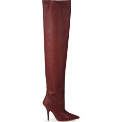 Yeezy Women's Over-The-Knee Tubular Leather Boots - Ruby - Size 35 (5) found on MODAPINS from Saks Fifth Avenue OFF 5TH for USD $349.99