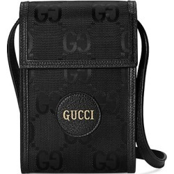 Gucci Men's Eco GG Small Nylon Crossbody Bag - Black found on MODAPINS from Saks Fifth Avenue for USD $690.00